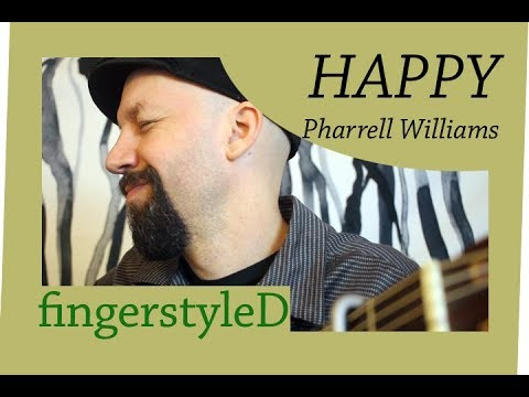 Happy (Pharrell) On Acoustic Fingerstyle Guitar