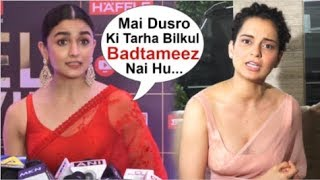 Alia Bhatt Takes A DIG At Kangana Ranaut For INSULTING Her In Front Of Media