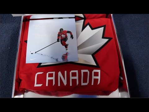 a87ba3821 Unboxing 2018 Team Canada Olympic Hockey Jersey - YouTube