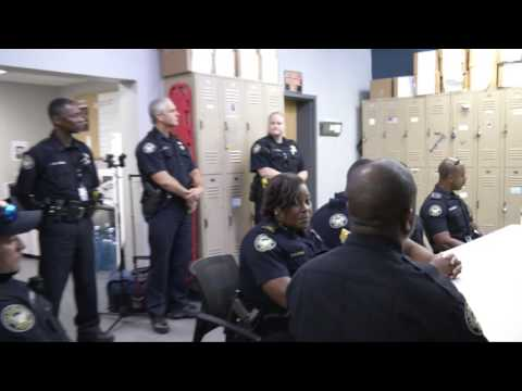 Ambassador Andrew Young Visits with officers in Zone 4