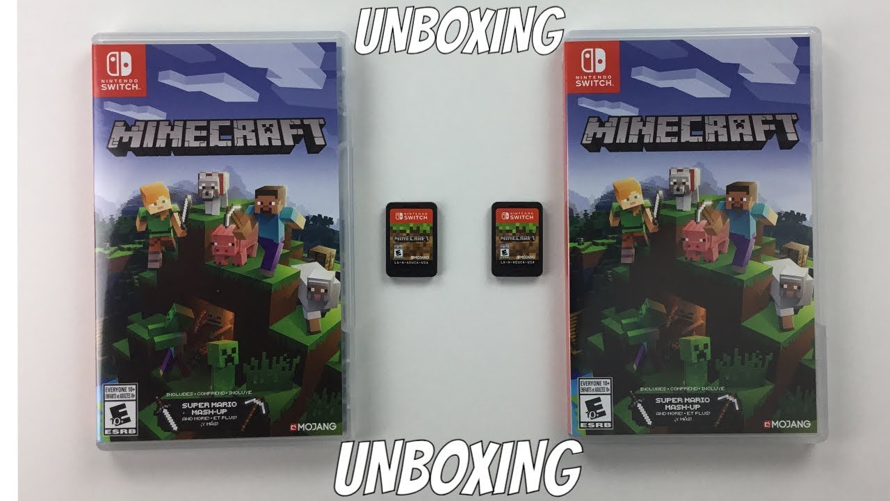 NINTENDO SWITCH MINECRAFT GAME UNBOXING