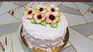 Торт с шифонового бисквита Учимся вместе делать новый цветок