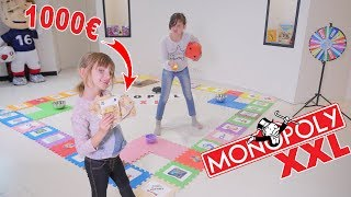 GIANT MONOPOLY XXL CHALLENGE @ 1000€ ! - GIANT BOARD GAME MONOPOLY CHALLENGE!!!