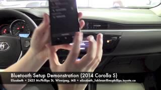 2014 Toyota Corolla S Bluetooth Setup Demo