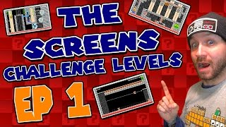 """THE SCREENS"" Challenge Levels EP 1 Super Mario Maker"