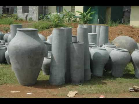 Suriya Sri Lankan Decor Articles Made Of Cement Youtube