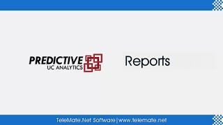 Predictive UC Analytics - Reports ( Advanced )
