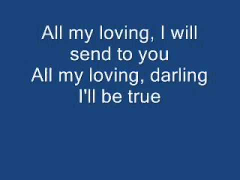 All My Loving  With Lyrics    The Beatles  Cover By Bobit