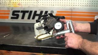 The chainsaw guy shop talk Stihl 032 chainsaw pressure, vacuum testing 10 20