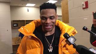 Russell Westbrook Postgame Interview Angry With Joel Embiid|19 NBA SEASON Drew's Highlights|