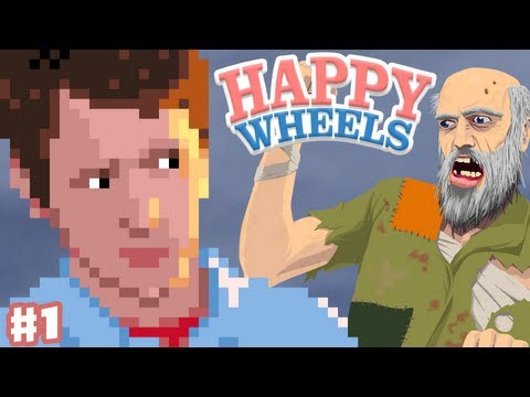 Happy Wheels - Part 1 - Prepare to Rage Quit! (Gameplay and Commentary)
