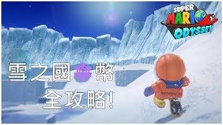 超級瑪利歐 奧德賽 Super Mario Odyssey 雪之國紫幣全攻略!