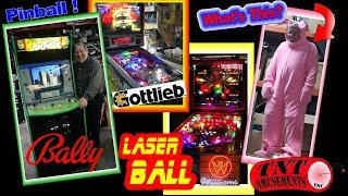 #1325 Bally RAMPAGE Arcade Game-Williams LASER BALL & Gottlieb RESCUE 911 Pinball TNT Amusements