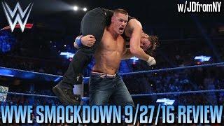 wwe smackdown live 9 27 16 review aj styles vs dean ambrose dolph ziggler s wwe career over