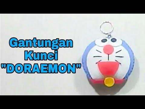 Tutorial Gantungan Kunci Imut Berbentuk Doraemon Dari Kain Flanel