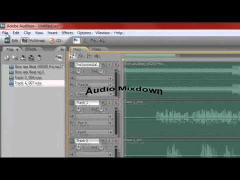 Adobe Audition Audio Mix Down (mp3)