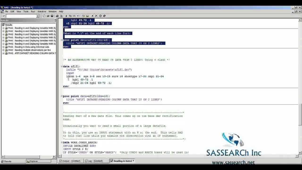 Sas base programming lesson 4 reading data set in sas youtube sas base programming lesson 4 reading data set in sas 1betcityfo Images