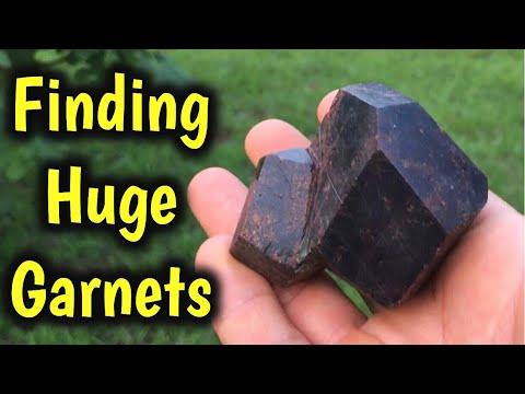 Cave Mining For Huge Garnet Gems In North Carolina