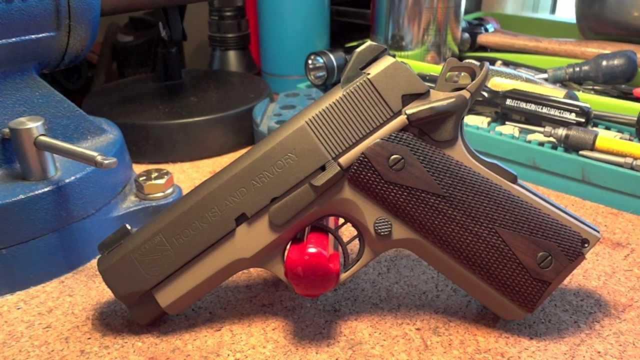 Rock Island Armory 1911 Officer  45 with Crowned Barrel, Midnight Bronze &  FDE Cerakote