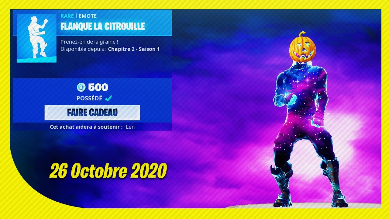 BOUTIQUE FORTNITE du 26 Octobre 2020 ! ITEM SHOP October 26 2020 !