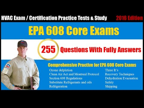 EPA 608 Core exam - Certification - Free Online Practice Tests