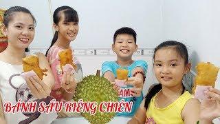 Làm bánh sầu riêng chiên món ăn vặt đường phố hot Sài Gòn