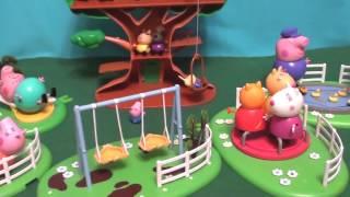 Мультфильм игрушками Свинка Пиги Pig Домик на дереве