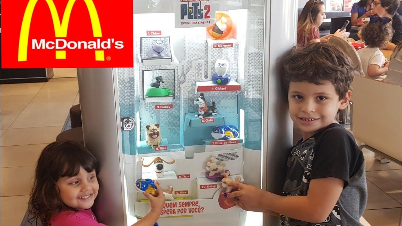 SAIU NOVA COLEÇÃO DO MCDONALDS DE JULHO 2019 PETS 2 VIDA SECRETA DOS BICHOS Mc lanche feliz