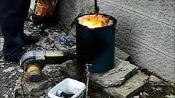 Melting of aluminum / топене на алуминий