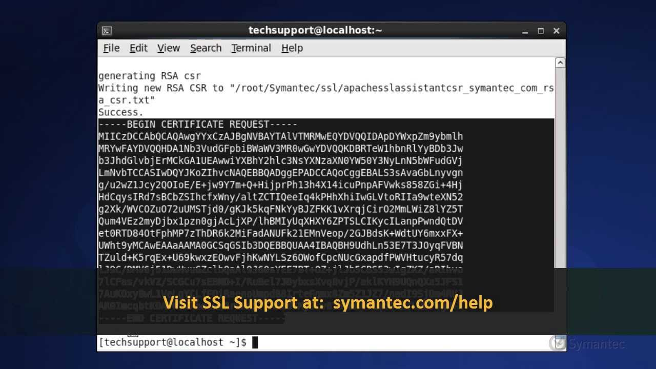 Support tutorials generating a csr for apache servers using support tutorials generating a csr for apache servers using symantec ssl assistant tool 1betcityfo Choice Image
