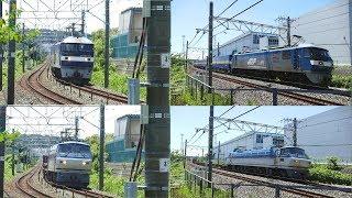 2018/08/17 JR貨物 2059列車(カンガルーライナーSS60)と1097列車の2本