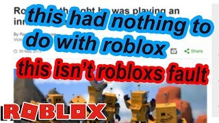 A NEWS ARTICLE IS SLANDERING ROBLOX and this needs to stop