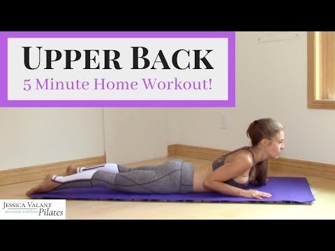 Upper Back Workout Strengthen and tone your upper back in 5 minutes!