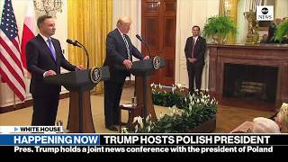 Trump holds news conference with Polish president | ABC News