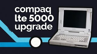 Upgrading a Compaq LTE 5000 Laptop with an IDE Compact Flash Card for DOS