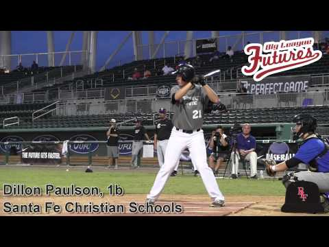 Dillon Paulson Prospect Video, 1b, Santa Fe Christian Schools Class of 2015