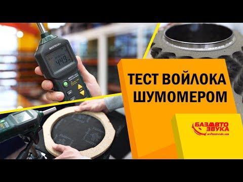 Эффективность войлока в авто. Тест акустического войлока шумомером. Шумоизоляция авто.
