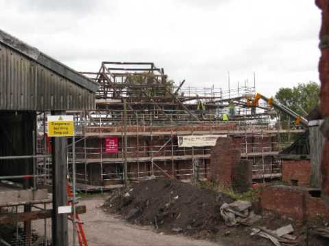 Lion Salt Works - Enabling Works - Time Lapse Dismantling Roof Trusses