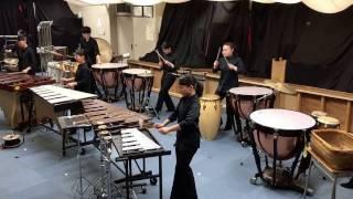 第15回ジュニア打楽器アンサンブルコンクール 最優秀賞を受賞したメンバ...
