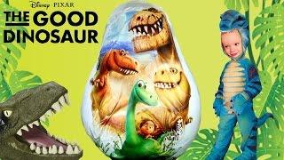 giant the good dinosaur movie egg surprise opening disney pixar toys jurassic world kids video