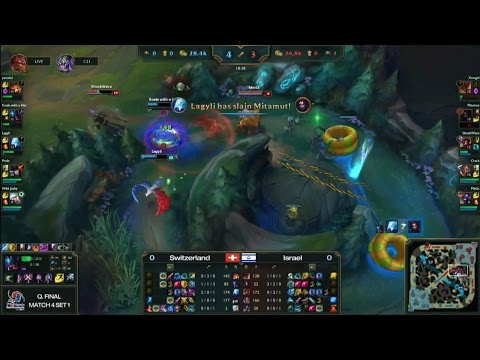 [2015 IESF] LOL Quarter-Final Match4 Set1 Team Israel vs Dead Pixels -EsportsTV