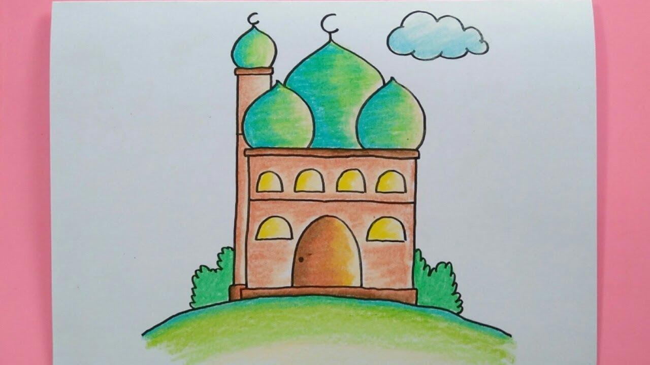 Cara Menggambar Masjid Youtube