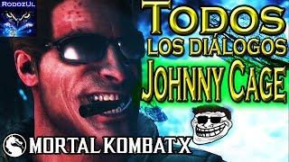 Todos los diálogos de Johnny Cage en Mortal Kombat X: Maestro de lucha y del chiste (Español Latino)