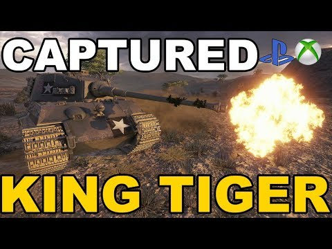 King Tiger Captured Okiem Hincula World Of Tanks Xbox One/Ps4