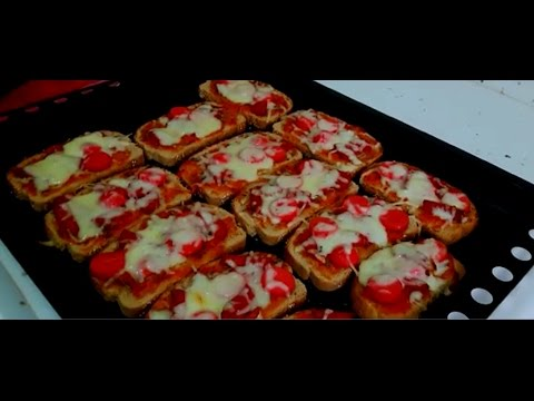 Pizza Kahvaltıda Kolay Ekmek Dilim Pizza Tarifi Youtube