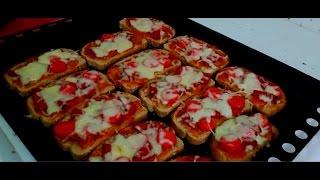 Pizza (Kahvaltıda  Kolay Ekmek Dilim Pizza ) Tarifi
