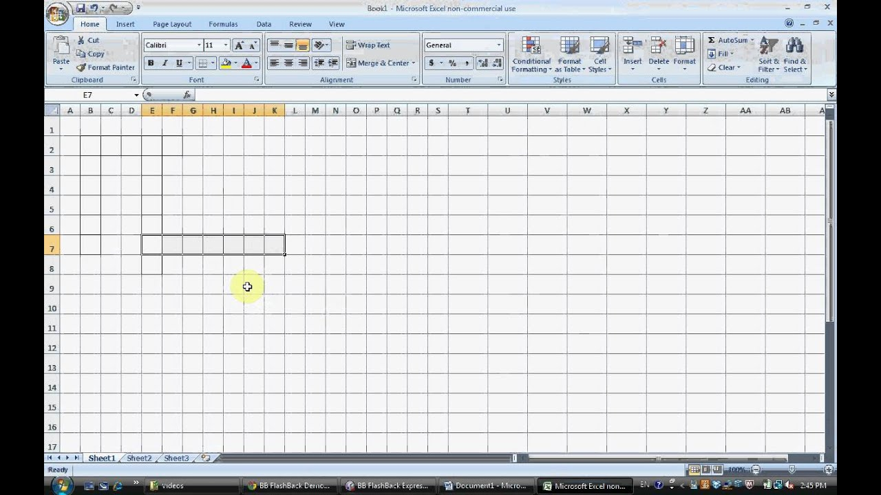 how to make a crossword puzzle with excel part 1 - YouTube
