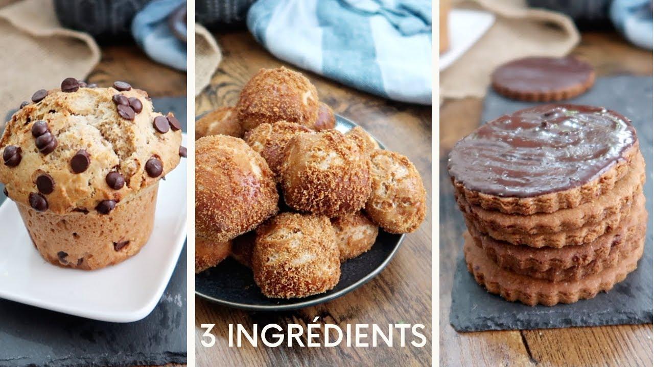 3 Ingrédients Pour 3 Recettes Gourmandes et Faciles (Sans Produits Frais Ni Farine Blanche)