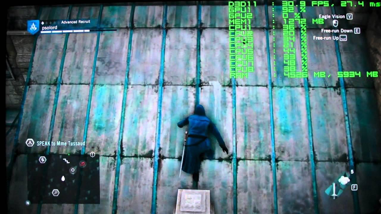 Assassin's Creed Origins 1920x1080 High 7950 @1.1Ghz CORE i7-860 .