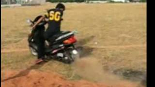 Burnouts on Scooty ES and Blaze!....